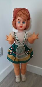 Vintage 1950's Athenna Piacenza Walking Talking Doll Boxed Flirty Eyes 69 cm