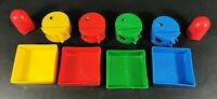 Vintage Pac Man Board Game Trays and Pac Men Spare Parts By MB Games