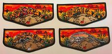 OA GILA LODGE 378 YUCCA TEXAS 2018 NOAC FLAP 4-PATCH COLOR ZOMBIE SET FEW MADE