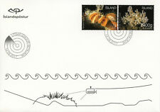 Iceland 2017 FDC Seabed Ecosystem II Clams Corals 2v S/A Set Cover Marine Stamps