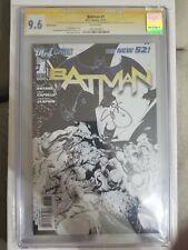 Batman #1 new 52 1st Print 1:200 Capullo Sketch Variant CGC 9.6 w/ remark!!
