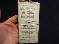 18 August 1, 1927 Baltimore & Ohio RR Time Tables w original String Tie NOS New