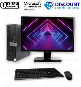 """Fast Dell 5040 Desktop Computer Core i5 8GB 512GB SSD DVD Windows 10 PC 24"""" LCD"""