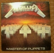 "METALLICA ""MASTER OF PUPPETS"" LP RARE FIRST PRESSING MFN 60 UK 1986 INCL LEAFLET"