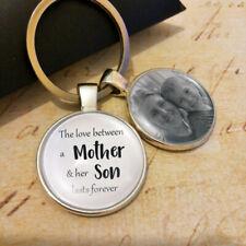 Personalised Mum Son Photo Keyring Mothers Day Gifts Birthday Memory Presents UK