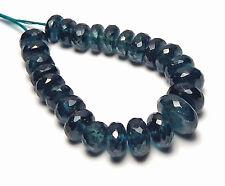 25 pcs TEAL BLUE KYANITE 7-11mm Faceted Rondelle Beads NATURAL /L2