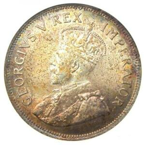 1924 South Africa George V 2.5 Shilling Coin 2 1/2 S - ANACS MS63 (BU UNC)