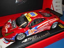 BBRP1859 BBR FERRARI 458 ITALIA GT2 GTE AM 24HLM #61 KAUFFMAN-AGUAS-VICKERS 1:18
