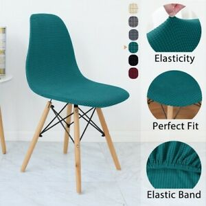 1/2/4/6 Pcs Seat Cover Removable Armless Shell Chair Cover  Slipcover Seat Cover