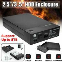 2.5 / 3.5 inch SATA USB 3.0 External Hard Drive Enclosure Case HDD Caddy Di O9Y3