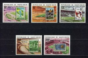 S5247) Haute-Volta 1979 MNH World Cup Football - Cup Del Mondo Football 5v