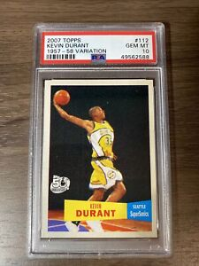 2007 Topps Kevin Durant  RC Rookie 1957-58 Varation #112 PSA 10