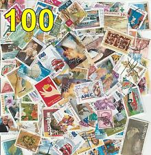 100 Off Paper Used Mixed Different Australian Stamps Old Bulk Decimal Lot Frank