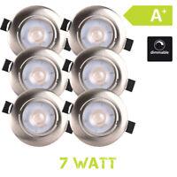 Faretto LED A Incasso Bianco Caldo 7W Dimmerabile Piatto 6er Set