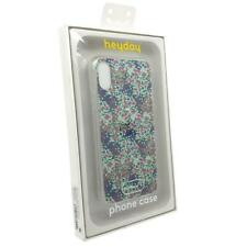 Heyday Slim & Sleek Design Fitted Printed Floral Case Cover For iPhone X - Blue