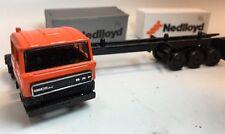 *Vintage* EFSI Toys Metal Die Cast Nedlloyd DAF Semi Truck Model Car - Holland