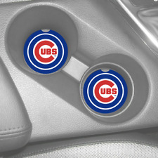 Chicago Cubs Rubber Car Coasters Set (2) Mlb Central