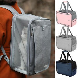 Pet Backpack Carrier for Small Dogs Cat Soft Side Should Handbag Breathable Tote