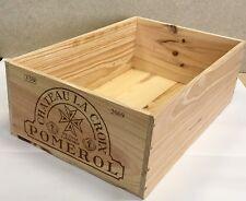 Weinkiste Holz 12er Kiste Deko Wein Shabby 'Chateau La Croix Pomerol' Grand Cru