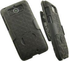 Black Shell Holster Case Belt Clip Combo + Stand for MOTOROLA DROID MINI XT 1030