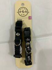 Bond & Co.Black Dog Collar-set of 2-XXS-New