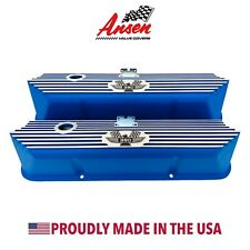 Ford FE 390 American Eagle Valve Covers Blue - Die-Cast Aluminum - Ansen USA