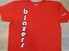 BLAZERS Downwards Logo T-SHIRT Mens XL Red Portland Basketball Team Moda Promo