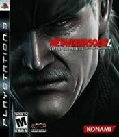 Metal Gear Solid 4 - Authentic Sony Playstation 3 PS3 Game