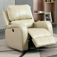 Power Recliner Chair Leather Overstuffed Lounge Sofa Couch Chair Home LivingRoom