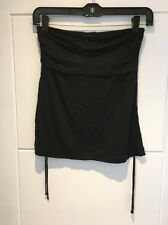 THEORY Black Silk Rayon Bandeau Strapless Top Shirt P XS S Small New BNWT