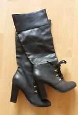 size 4 Dorothy Perkins black heeled knee high boots