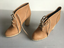 LOEFFLER RANDALL Womens Beige Nude Lace-Up High-Heel Ankle Boots Booties 6B
