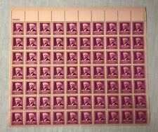 3c Three Cent Luther Burbank Famous American US Stamp Sheet 70 - 1940 #876