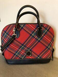 dooney bourke handbags New W/Tags Zip Zip Satchel Tartan Red Plaid