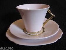 Art deco diamond china (blyth porcelaine) #8260 tasse/soucoupe/assiette trio c.1930's