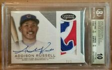 BGS 10 PRISTINE 2016 TOPPS DYNASTY ADDISON RUSSELL AUTOGRAPH PATCH #2/5 CUBS