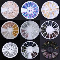 3D Nail Art Rhinestones Glitters Beads Acrylic Tips Decoration in Wheels Tools