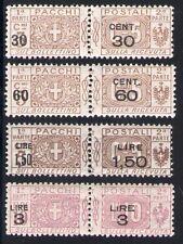 1923-25 Regno/Italy Paquetes Postales soprastampati n ° 20/23 - 4 val MNH
