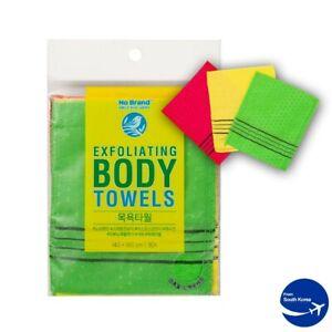 Italy Towel Korean Exfoliating Bath Washcloth Body Scrub Wash Cloth 3 Pack