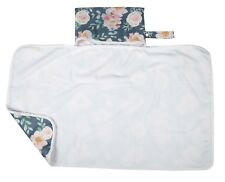 Large Diaper Changing Mat Pad Foldable Travel Portable Bag 30inx18.5in Floral
