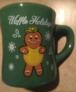 Waffle House Coffee Cup Christmas 2016 Holidays Mug Ltd Ed Green Gingerbread Man