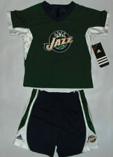 2) Utah Jazz NBA Basketball Outfit Shirt Jersey & Shorts Sz 3T LOT SAMPLES HOLE