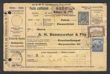 Stationery W08 Hungary 1917 old Postal Shipment document used to Turkey