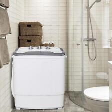 Blanc Portable Mini Lave-linge Sèche-linge maison machine à laver Twin baignoire autoportante