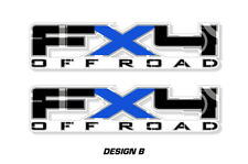 """FX4 Off Road Truck Bed Decal Set For Ford F150 09-14 Vinyl Stickers 17""""X4"""" BLUE"""