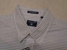 Gant Windward Poplin Stripe Shirt with Hidden Button Down Collar NWT Large $125