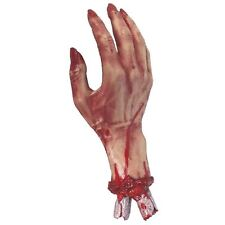 30cm Realistic Severed Bloody Hand Gory Horror Halloween Party Prop Decoration