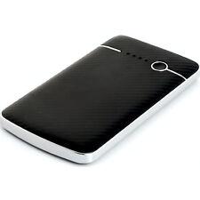 PowerBank 4000mAh Cargador USB 1A Poly LED Fibra De Carbon Negro-Plata PowerNeed