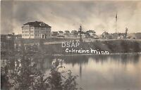 C81/ Coleraine Minnesota Mn Real Photo RPPC Postcard c1910 School Building Homes