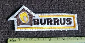 VINTAGE Burrus Corn Farming tractor Trucker Hat sew on PATCH